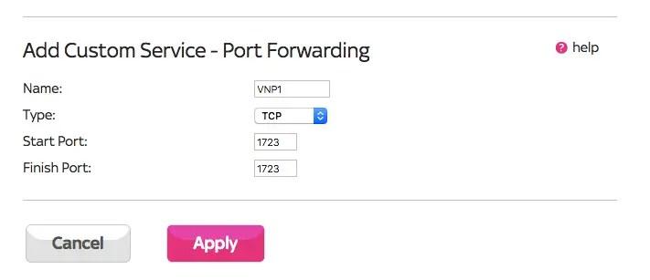 Setup Port Forwarding