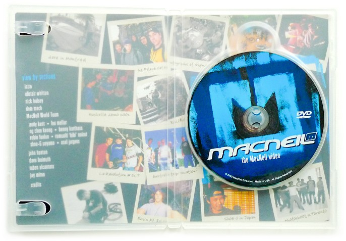 This was the first DVD in the industry to take advantage of translucent plastic jewel case, so it also features graphics and a breakdown of sections and team on the inside of the case.