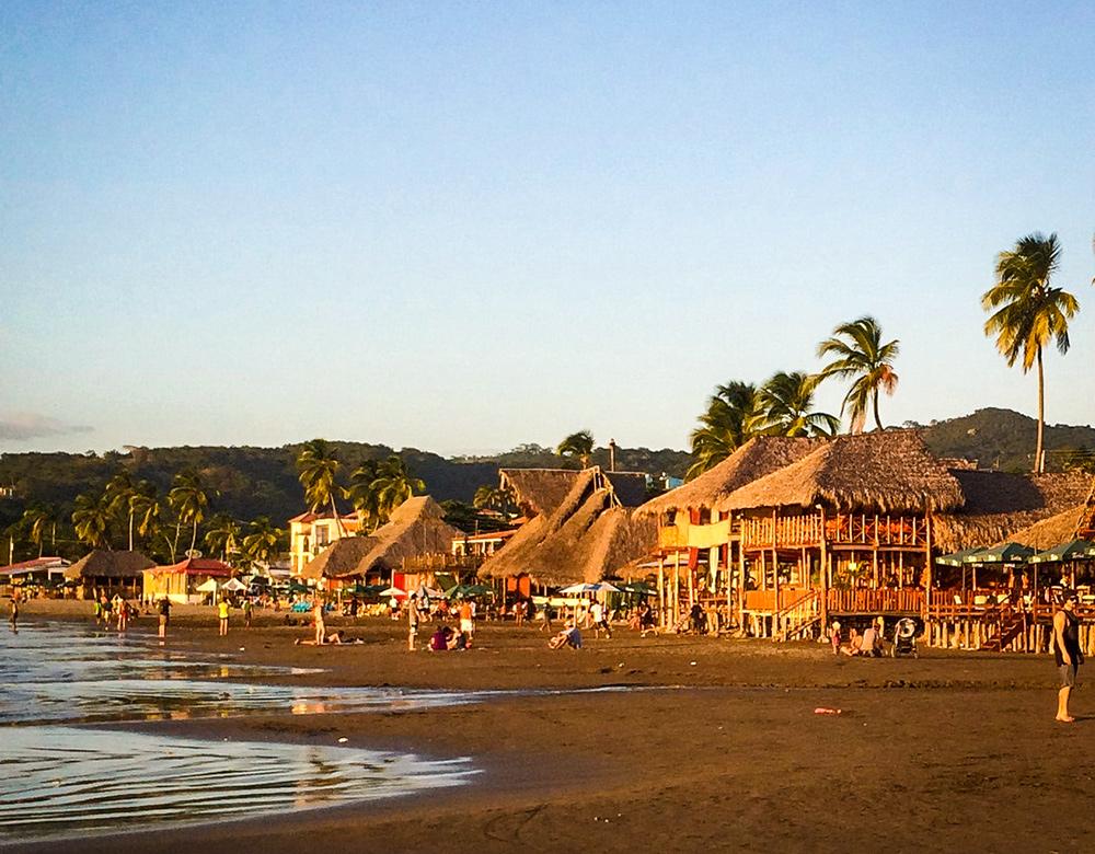 San Juan del Sur is a beautiful little surf town... Looking down the main beach.