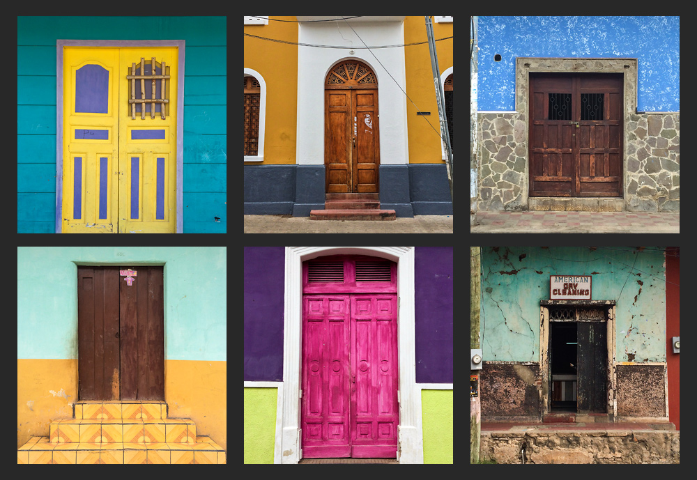 The colours of the buildings all over Nicaragua are just beautiful — I shot so many photos of the buildings and doorways I'll have to put together a post just on that.