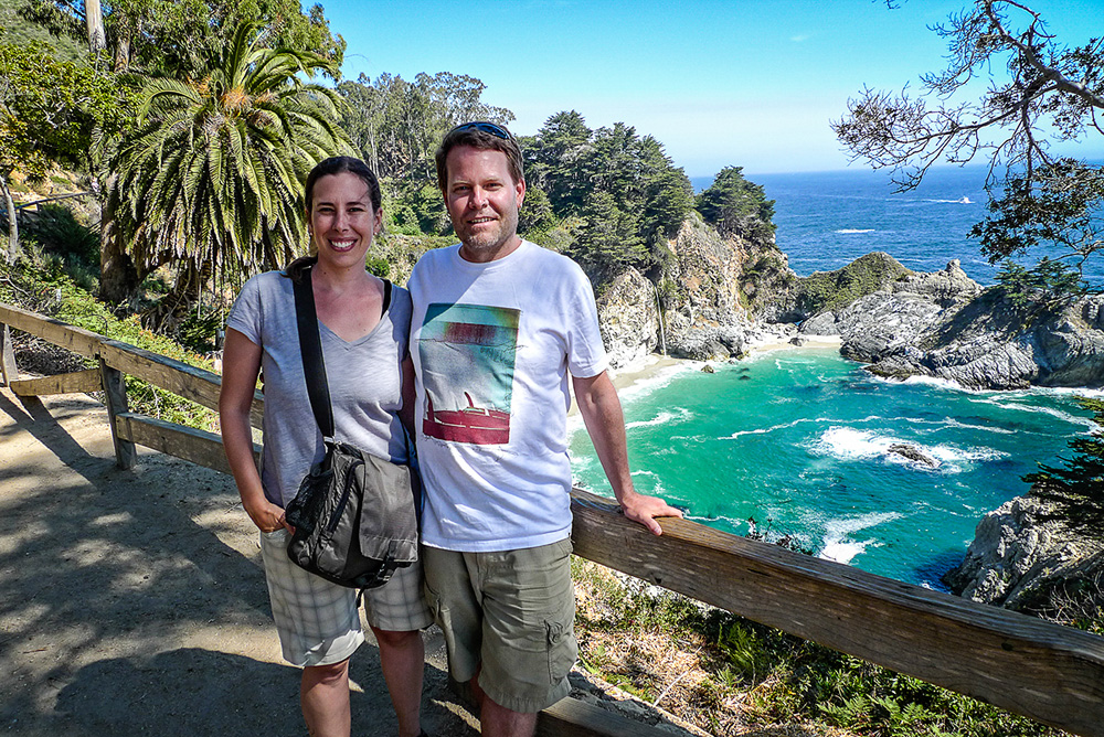 The colours at McWay Falls were incredible; the water was so vibrant it looked like the Caribbean.