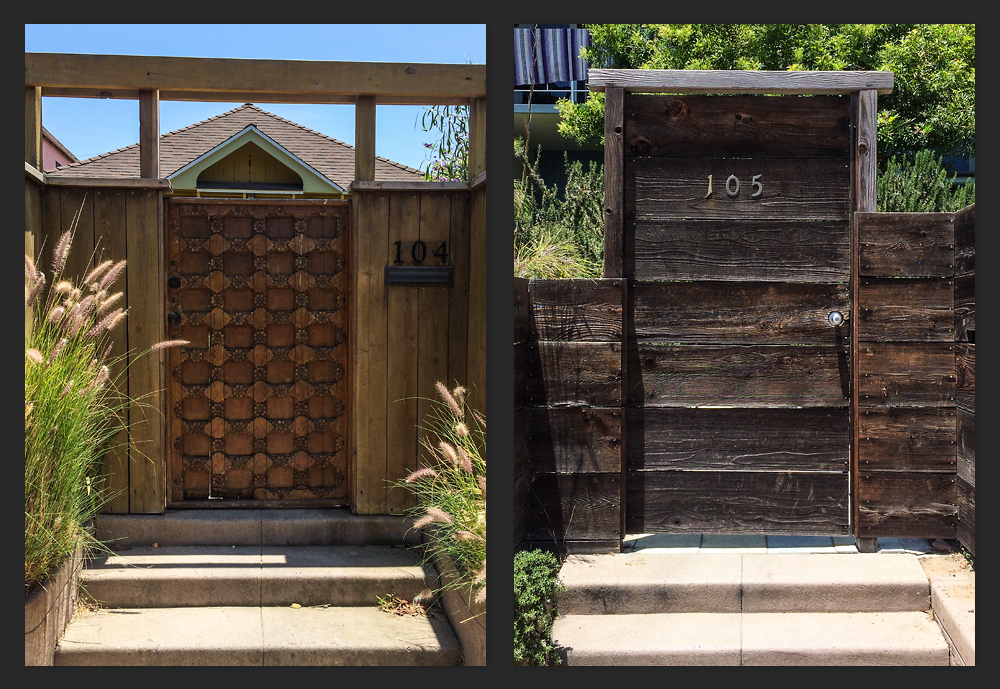 A couple of beautiful beach house doors in Venice, just steps away from the beach.