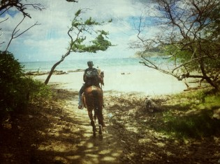 I love this heavily styled photo I took of Katie as we headed onto the first beach.