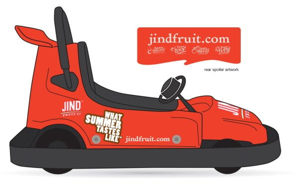 Concept drawing of the Jind Fruit go kart.