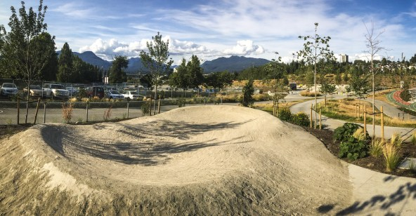 The much smaller, very beginner level pump track that was designed specifically with young children in mind.