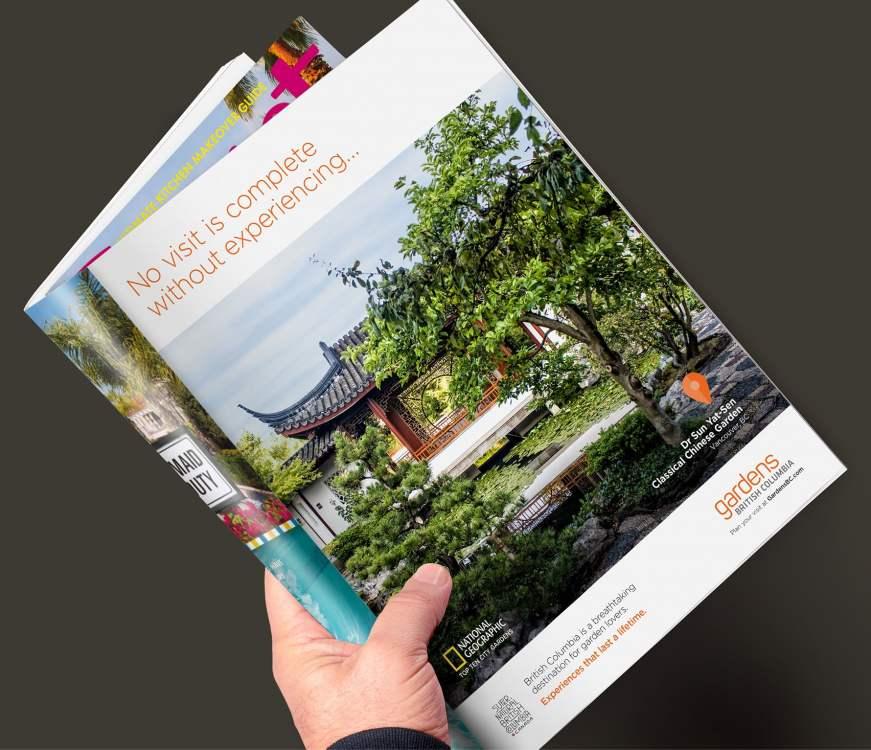 Gardens BC Dr Sun Yat-Sen magazine ad.