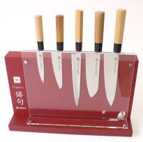 Bloc plexi Haiku pour 5 couteaux