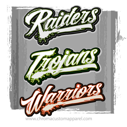 703f2648 Distressed Team Logos - Cool Shirt Graphics for Your Team