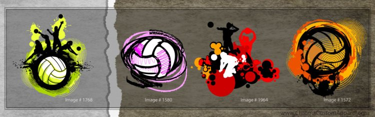 Distressed Volleyball Designs