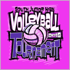 Pink Volleyball Shirt