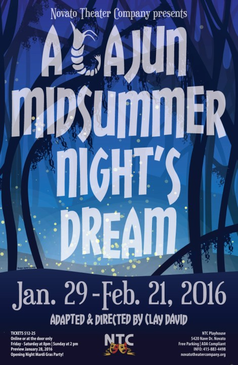 A Cajun Midsummer Night's Dream Poster - Novato Theatre Company