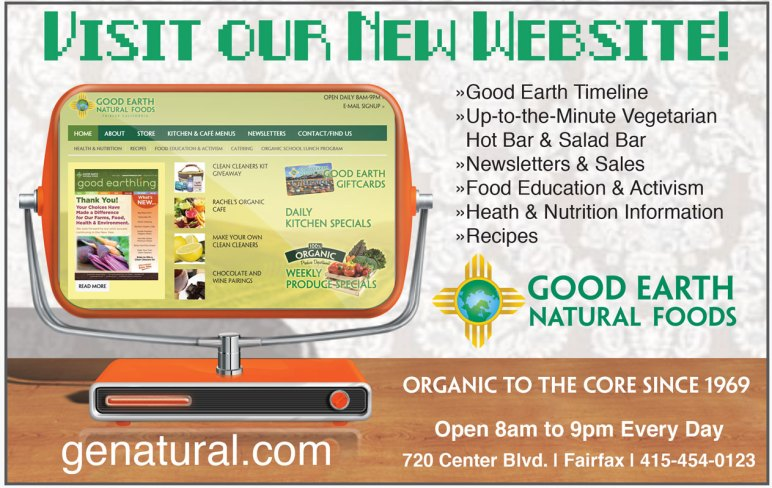 ChromaKit Graphic Design Good Earth Edible Magazine advertisment