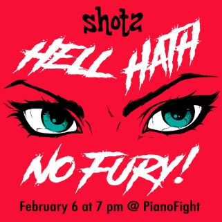 Shotz: Hell Hath No Fury! Graphic - AmiosWest