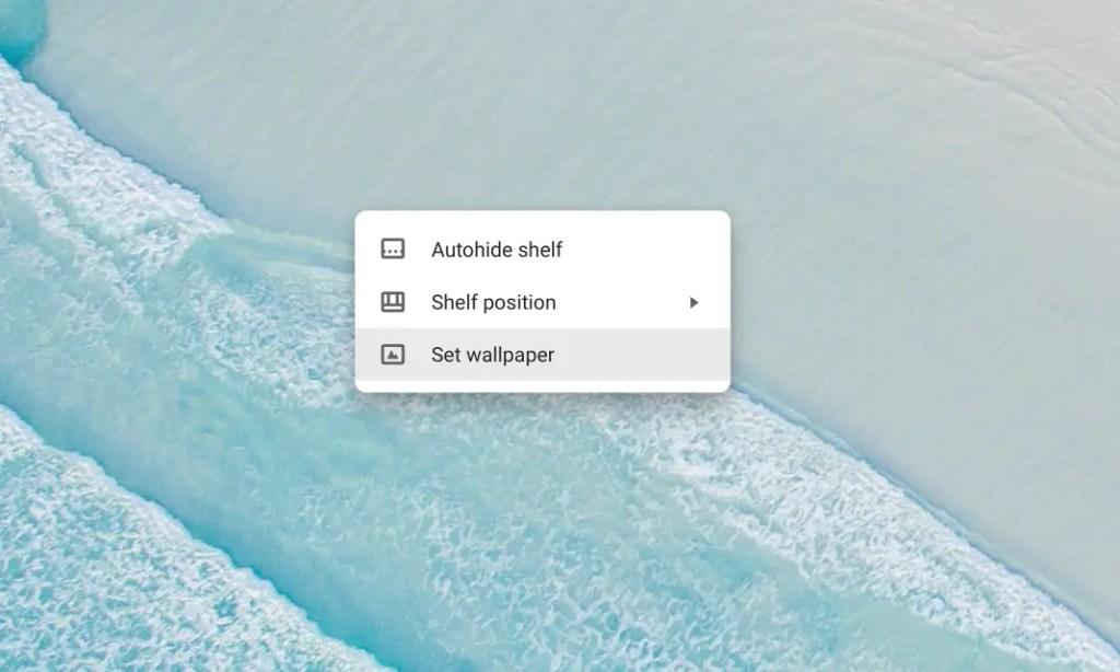 Chromebook Desktop - Set Wallpaper