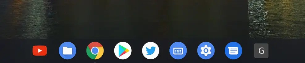 Pinned apps on Chromebook Desktop