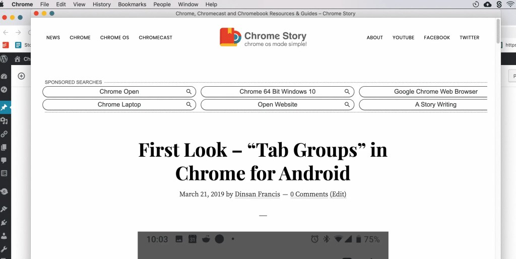 Chrome single tab mode