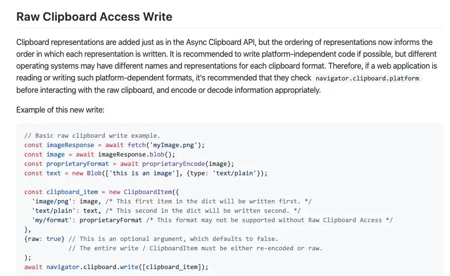 Code for Raw Clipboard Access