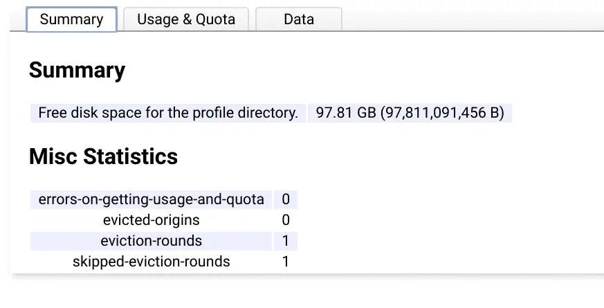 Storage quota
