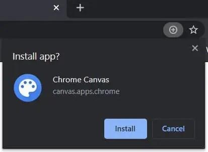 Install Canvas confirmation