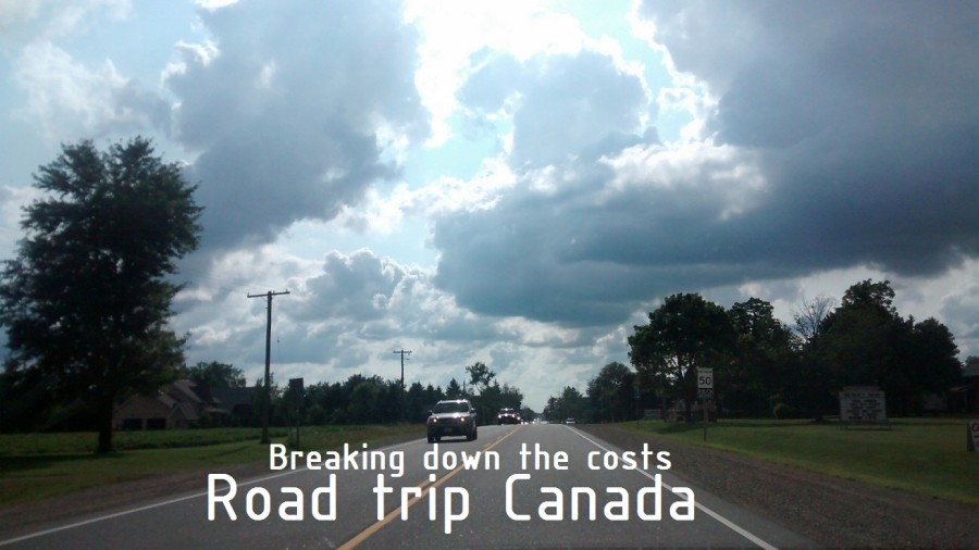 Road trip Canada costs