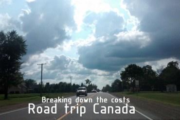 Road trip Canada costs