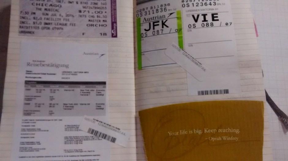 Travel diary journal moleskine