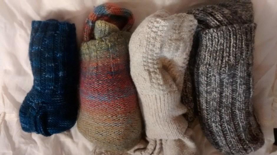 Travel knitted Socks