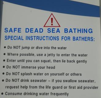 Safe Dead Sea Bathing