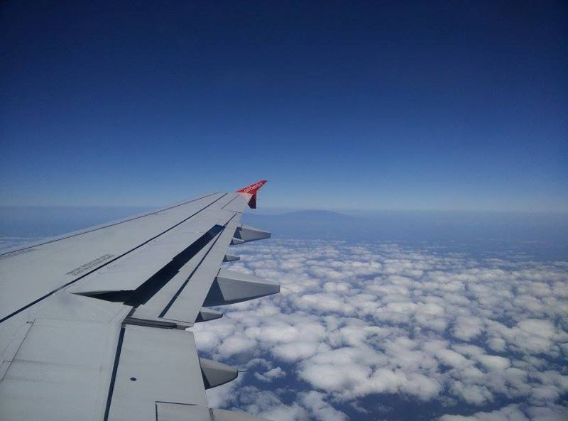 When flying over the canary islands