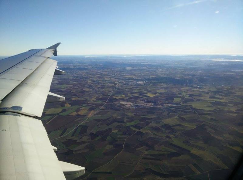 Near madrid high in the air fields