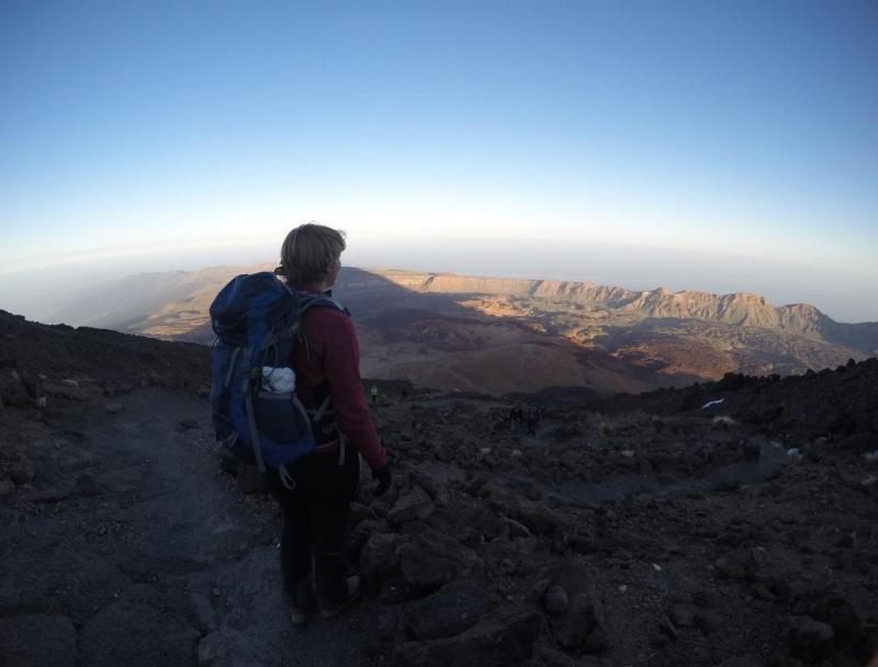 Chronic wanderlust on Teide Tenerife