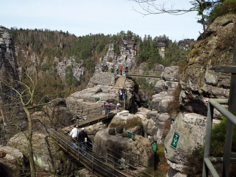 saxon switzerland bastion bridge bastei