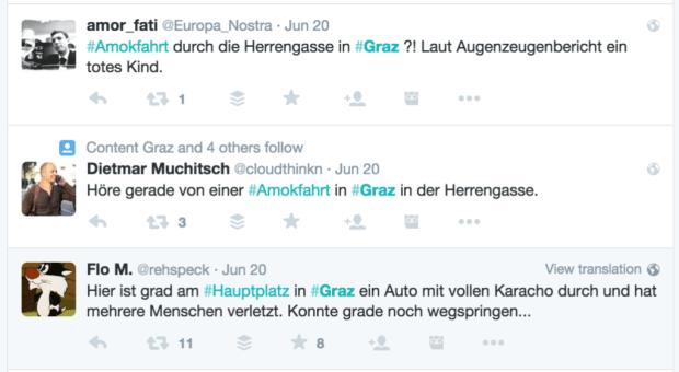 Graz in Trauer Twitter