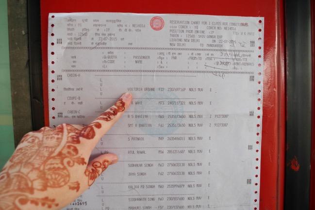 India travel train list outside