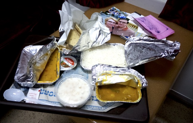 india rail food train dinner