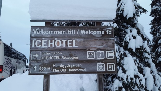 Ice Hotel Entrance