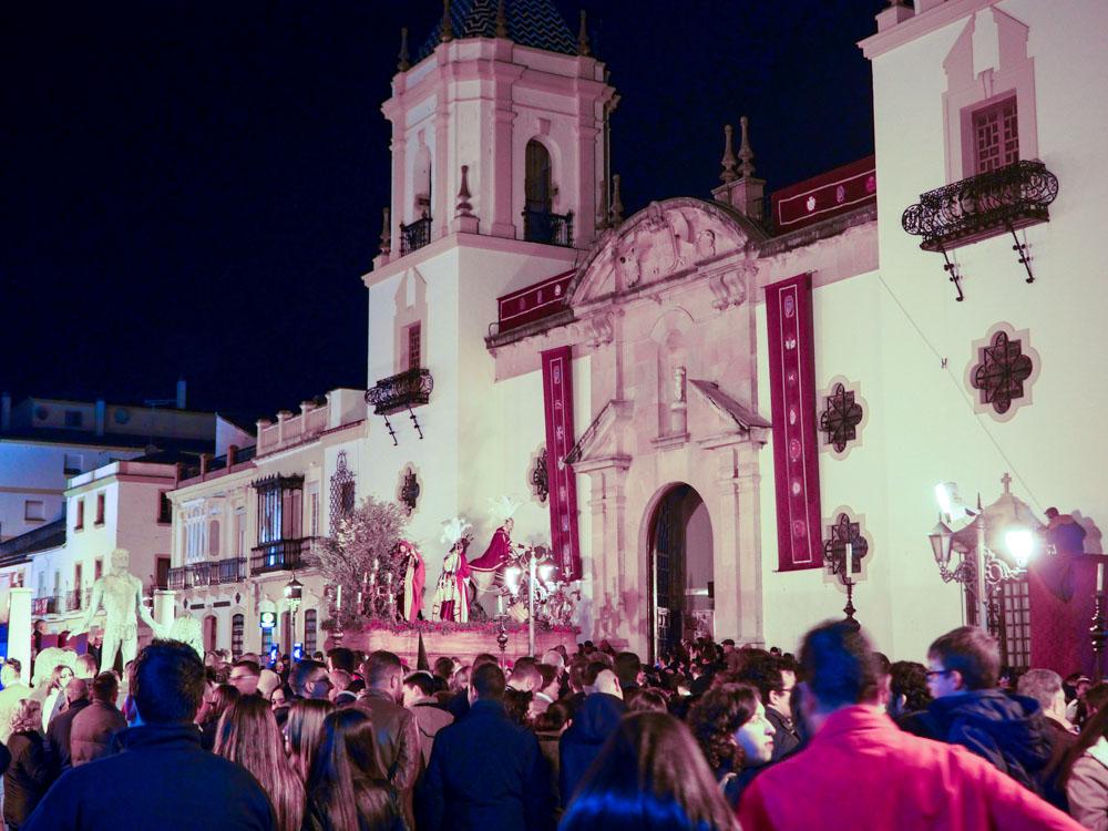 Palmsonntag Prozession Ronda Andalusien Spanien