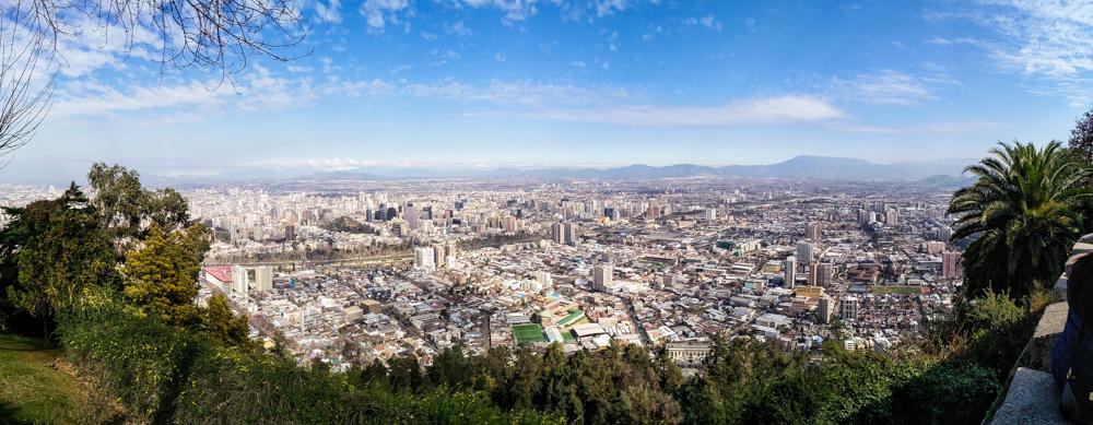 Panorama von Santiago de Chile Cerro San Cristobal