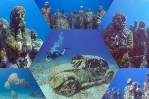 Let's dive the MUSA Underwater Museum Isla Mujeres with Carey Diving