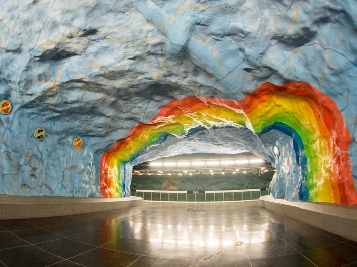 Stadion Metrostation Stockholm