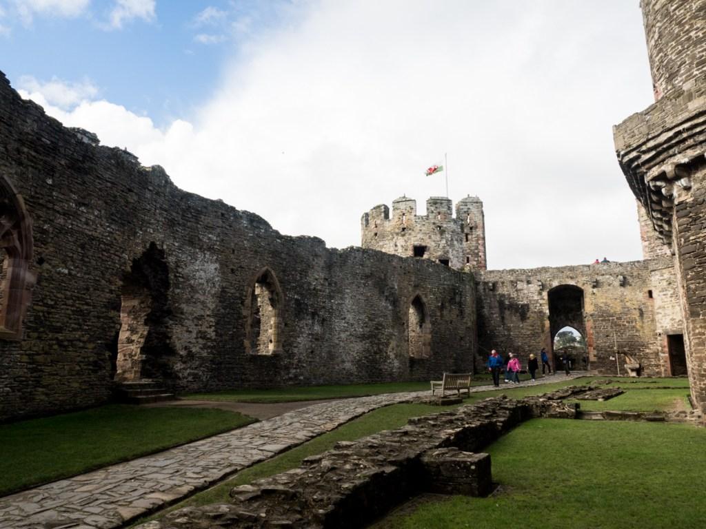 Conwy Festung von innen