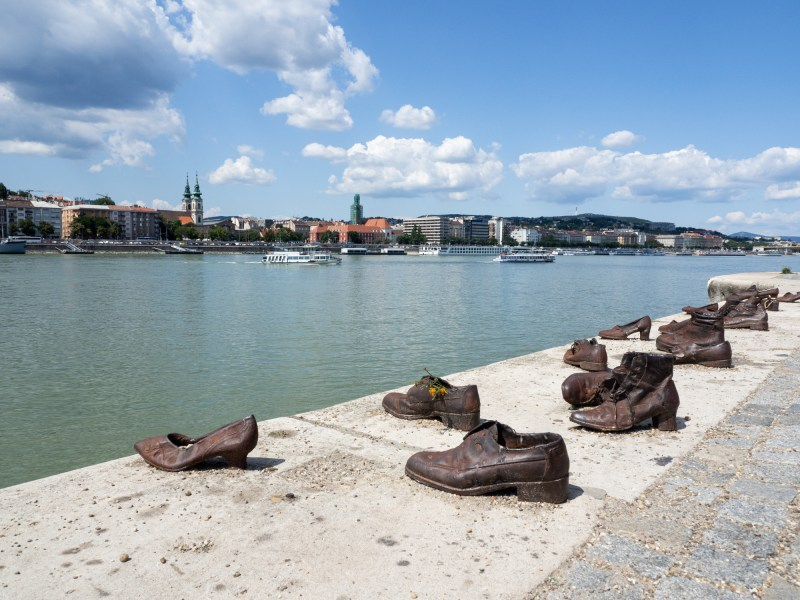 Schuhe an der Donau Mahnmal Budapest