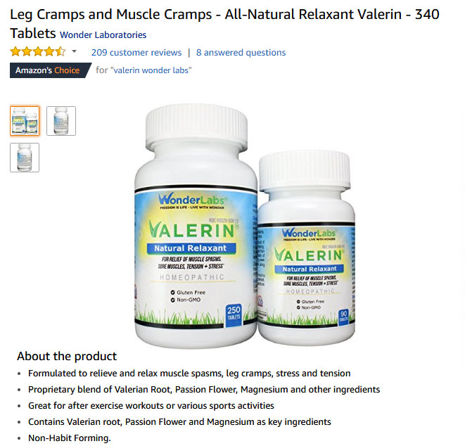 best Leg Cramps supplements amazon