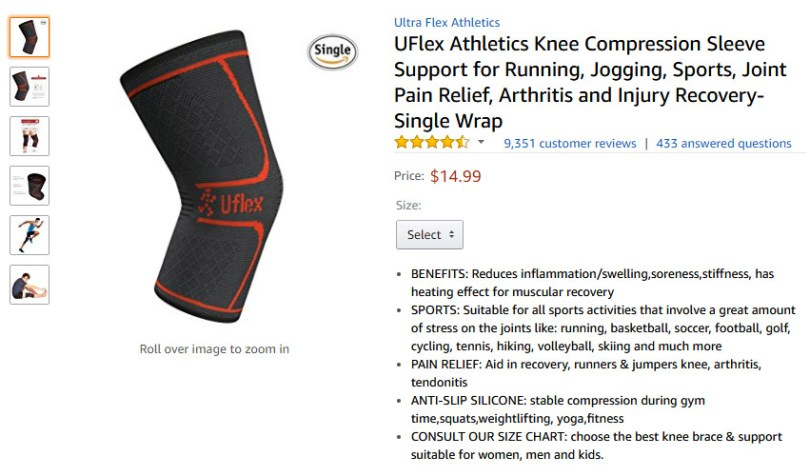 best knee compression sleeve amazon
