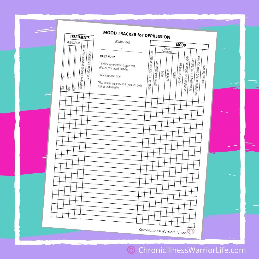 Printable Mental Health Worksheets