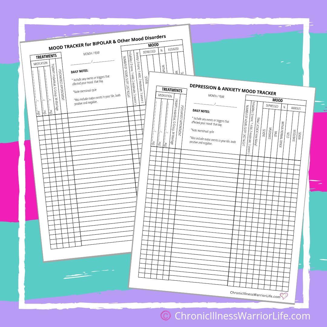 Free Printable Mental Health Worksheets Chronic Illness
