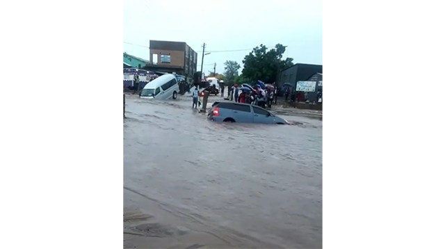 Scenes from Dulivhadzimu suburb where most roads where left inaccessible due to flash floods which hit the area yesterday in the morning