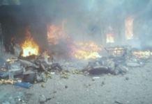 FILE: Scene of a bomb blast in Madagali, Adamawa State Borno