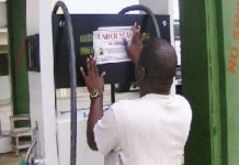 FILE: DPR official seals a petrol station in Akwa Ibom
