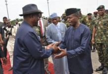FILE: Governor Wike welcomes Nigeria's Vice President Yemi Osinbajo to Rivers